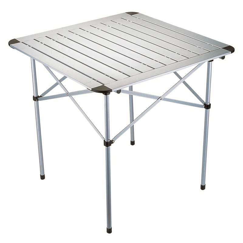 table mobilier camping table camping aluminium mat 70 cm. Black Bedroom Furniture Sets. Home Design Ideas