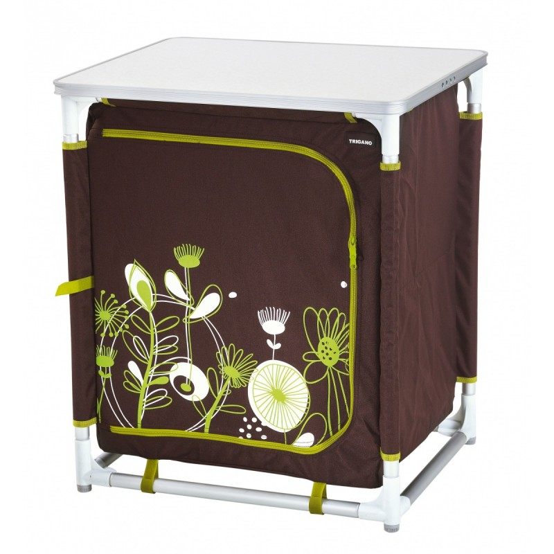 meuble rangement meuble camping bas chocolat trigano. Black Bedroom Furniture Sets. Home Design Ideas